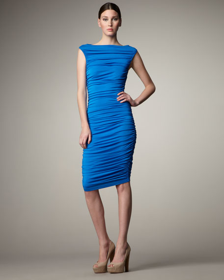 Allover Ruched Dress