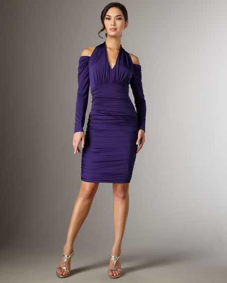 Cold Shoulder Jersey Dress