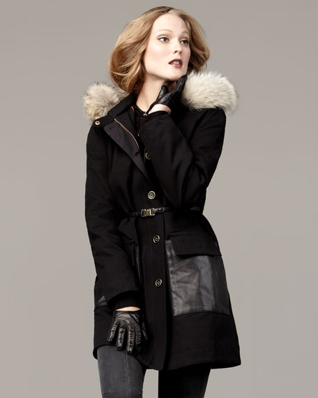 Delancey Fur-Collar Parka