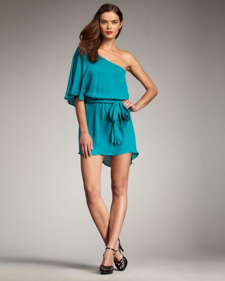 One-Shoulder Floaty Dress