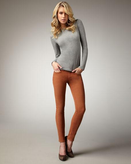 The Skinny Cognac Jeans