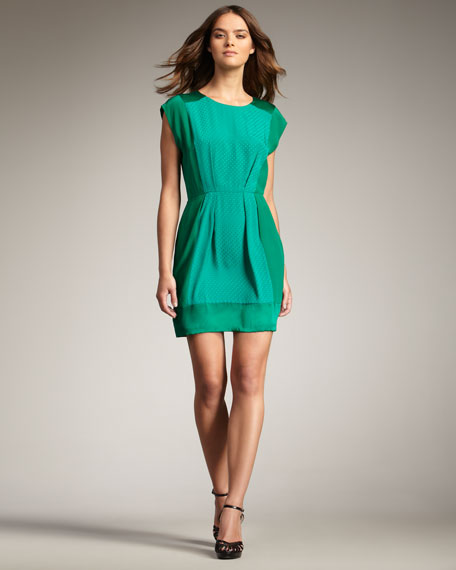 Jacquard-Panel Dress