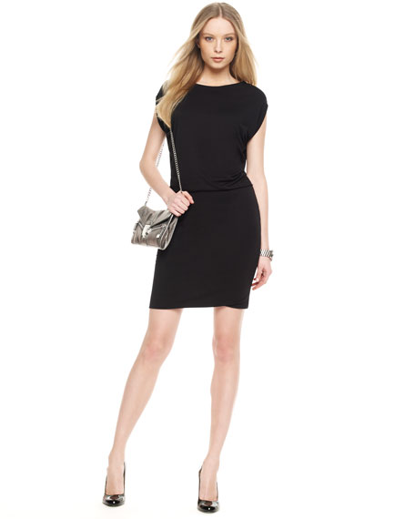 Knit Blouson Dress, Women's