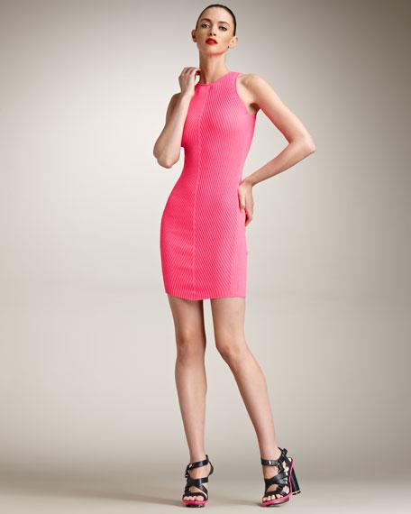 Ribbed-Knit Tank Dress