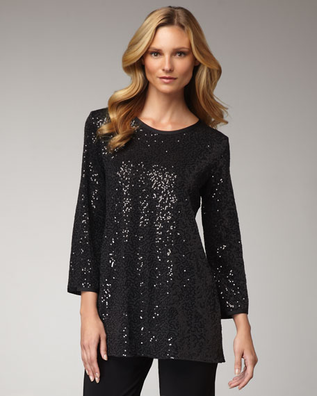 Stretch Sequined Tunic