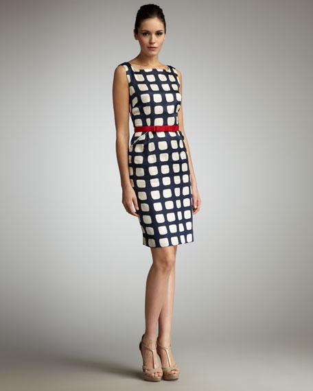 Adrianne Belted Sheath Dress