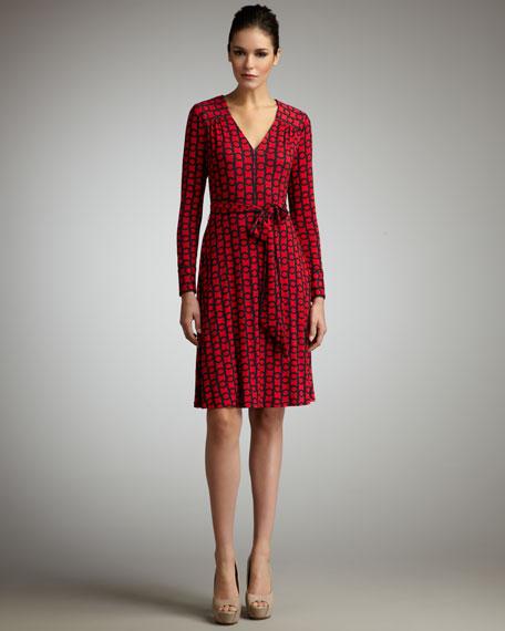 Jane Link-Print Dress