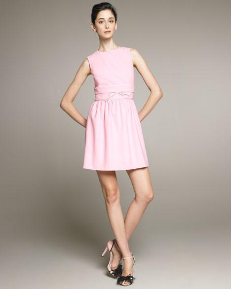 Sleeveless Dress With Bow Waist