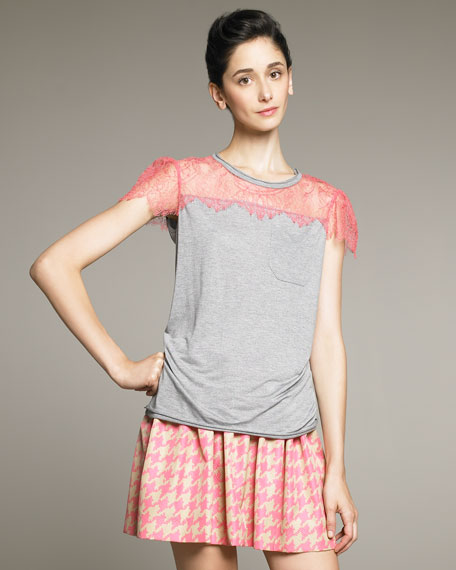 Lace-Detail Tee