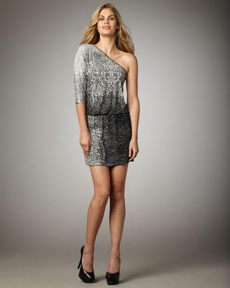 One-Shoulder Jersey Dress