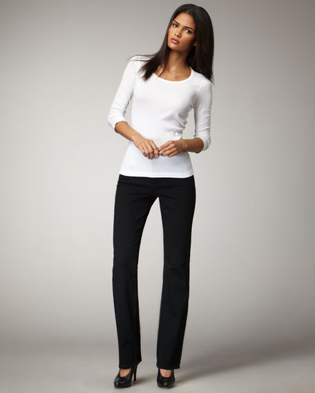 Marilyn Rhinestone-Pocket Jeans, Petite