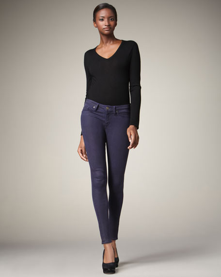 Nico Coated Skinny Jeans, Purple