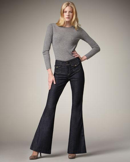 Erin Mercer Flap-Pocket Trouser Jeans