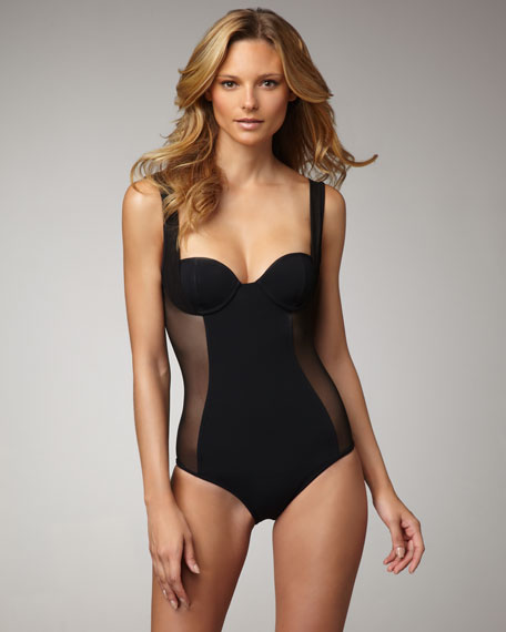 Sheer-Side One-Piece