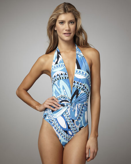 Isfahan Twist-Front One-Piece Swimsuit