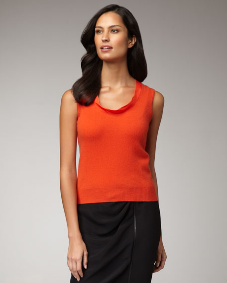 Bow-Back Cashmere Shell