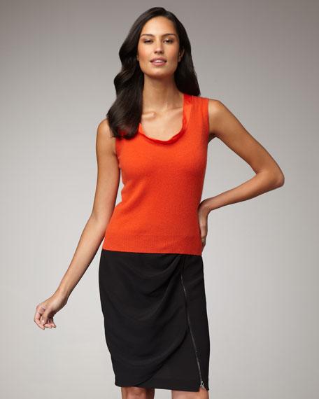 Draped Zip Skirt