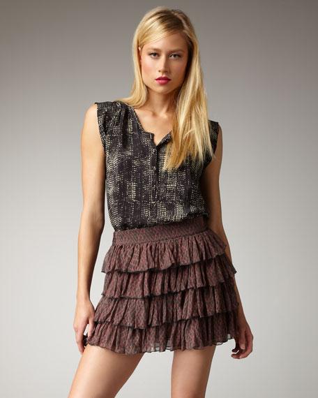 Lobelia Printed Tiered Skirt