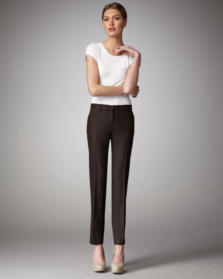 Stretch Wool Flannel Pants