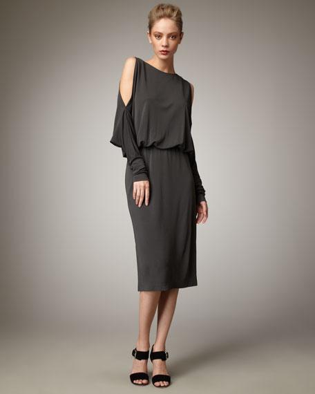 Blouson Jersey Dress, Army