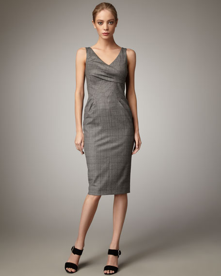 Plaid Suiting Dress
