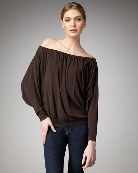Off-The-Shoulder Top, Chocolate
