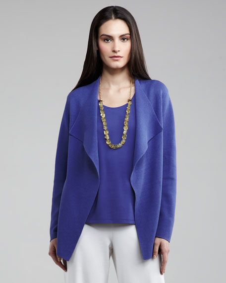 Open Interlock Cardigan, Women's