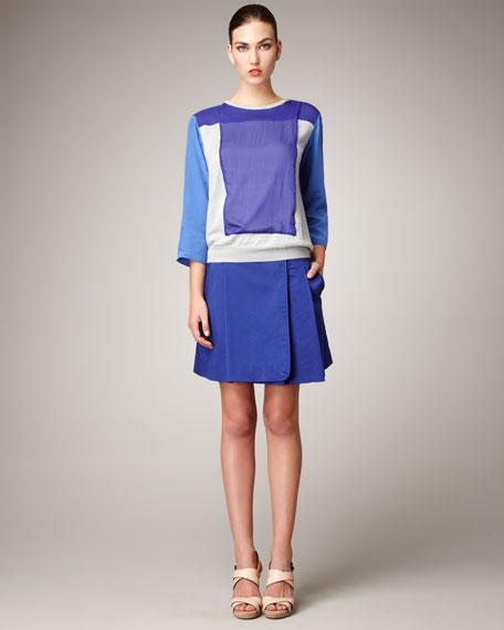 Sateen Wrap Skirt