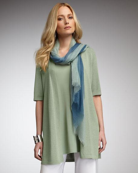 Silk-Jersey Sleeveless Tunic, Petite