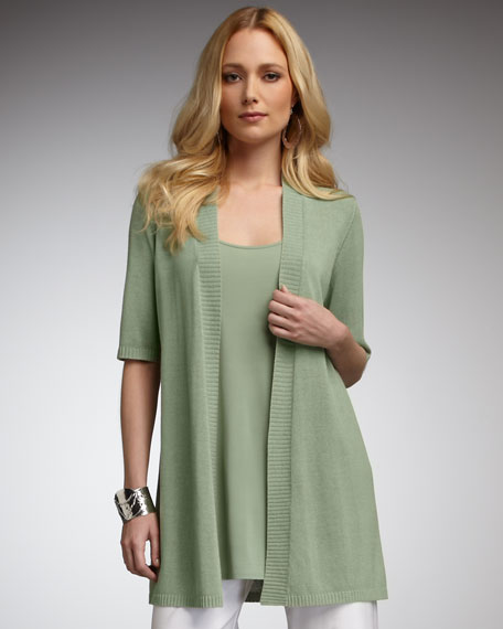 Long Short-Sleeve Cardigan