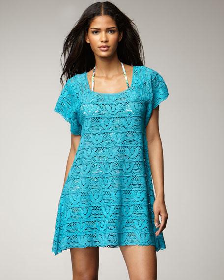 Crochet Coverup, Azure