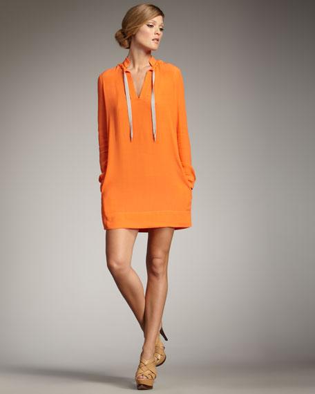 Karlian Tie-Neck Dress