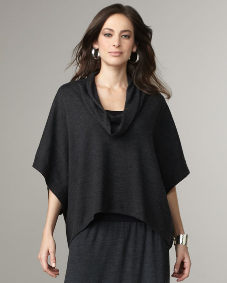 Cowl-Neck Boxy Top