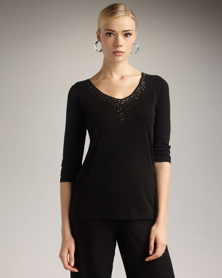 Sequined Jersey Top, Women's