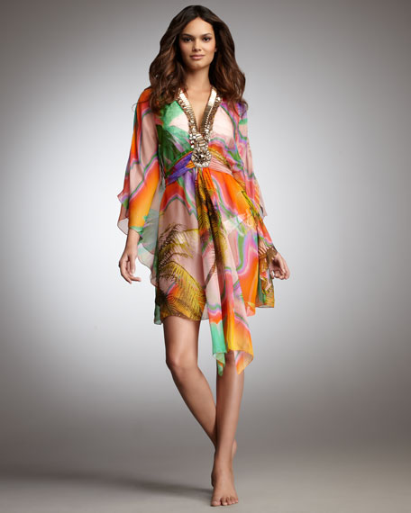 Silk Beaded Coverup