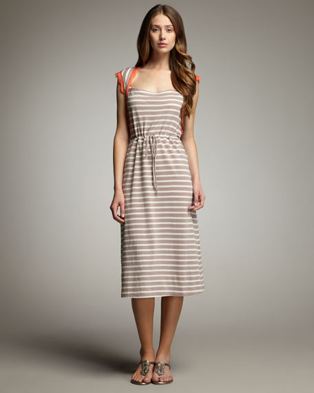 Edvin Striped Drawstring Dress
