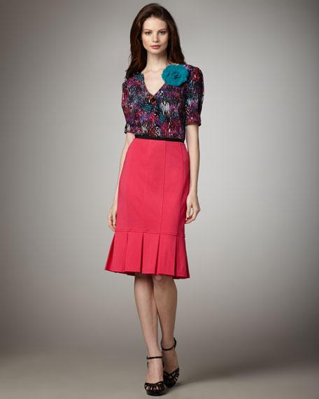 Sacada Flared Skirt, Pink