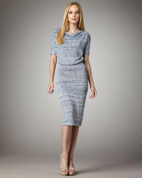 Blouson Linen Jersey Dress