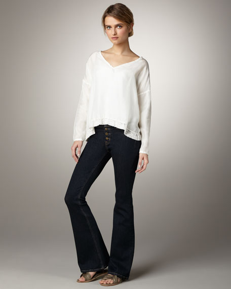 Bailey Button Flare Jeans