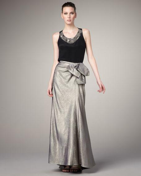 Bow-Detail Long Skirt