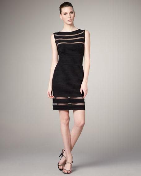 Sheer-Detail Bandage Dress