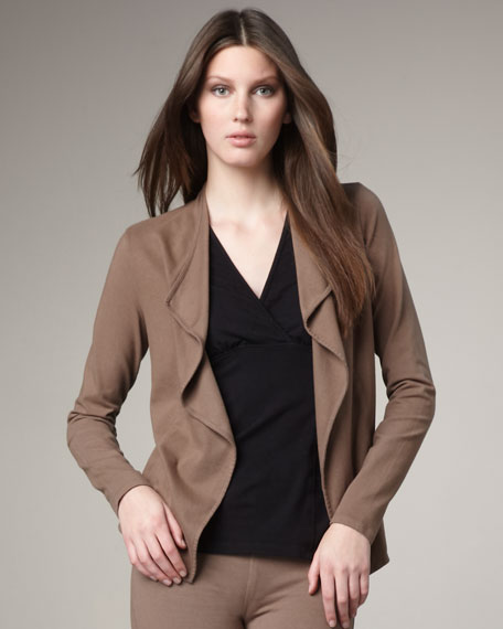 Open-Front Jersey Cardigan