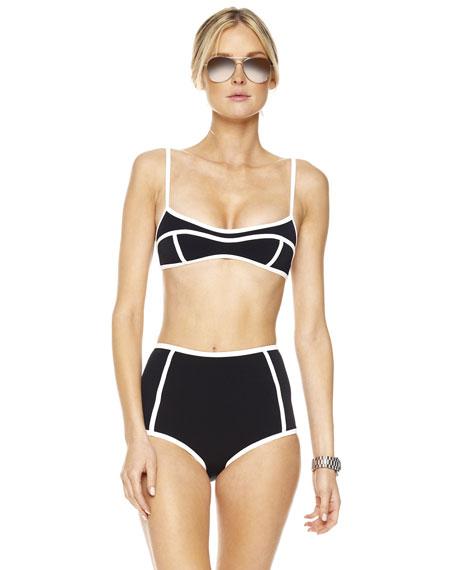 Seamed Solids Retro Bikini