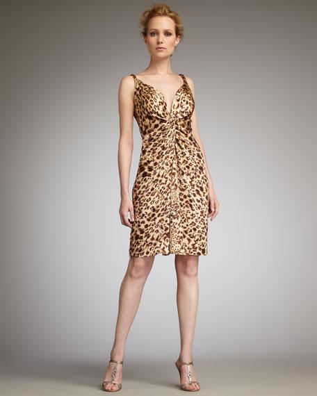 Leopard-Print Cocktail Gown