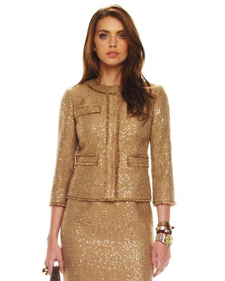 Sequin Boucle Jacket, Women's