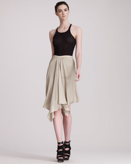 Asymmetric Georgette Skirt