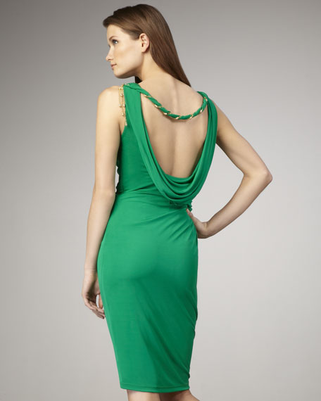 Open-Back Jersey Cocktail Dress