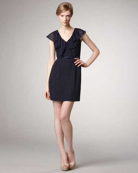 Delilah Ruffle Dotted Dress
