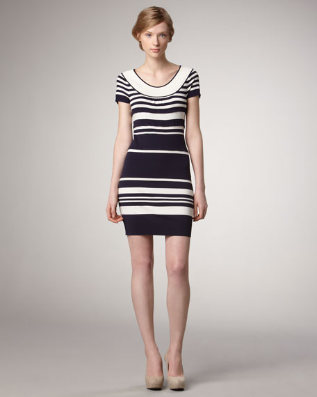 Amanda Striped Sweater Dress