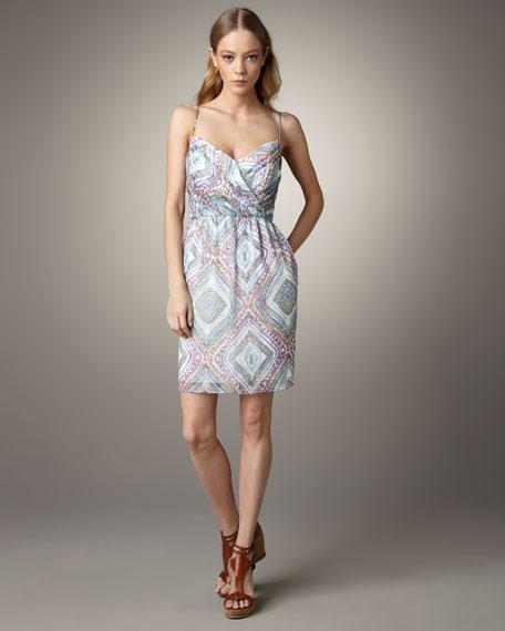 Mia Paisley Silk Dress